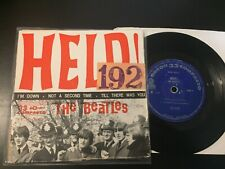 "THE BEATLES: HELP! EP 7"" ODEON 1965 BRAZIL FIRST PRESS vinyl 45 PS rare"