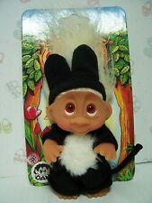 "1985 TOM THE MIDNIGHT CAT - 3"" Dam Norfin Troll Doll Wildlife Series - NEW"