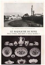 ARTICOLO 1926 MAJOLICHE DI NOVE ANTONIBON VIERO STORIA ARTE TECNICA CERAMICHE