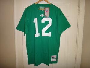 Joe Namath 1969 Mitchell & Ness NY Jets Men's Name & Number Jersey T-Shirt $45