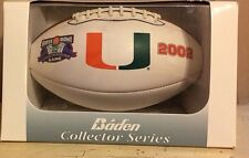 NIB Baden 2002 Miami Hurricanes Football Rose Bowl National Champions NCAA The U