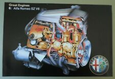 ALFA ROMEO SZ V6 orig 1992 Great Engines Sales / Specs Leaflet Brochure - ES30