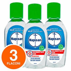 Napisan Gel Igiene Detergente Mani Idratante Disinfetta Batteri 3x50ml