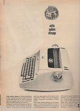 Publicité de Presse Machine à écrire électrique IBM  french press ad