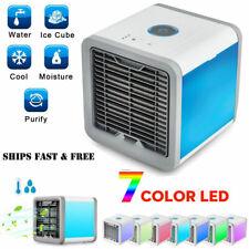 Mini Mobile Climatiseur Rafraichisseur d'air USB Ventilateur Multifonction LED