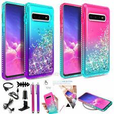 For Samsung Galaxy S10 /S10 Plus /S10e Liquid Glitter Bling Case Cover Accessory