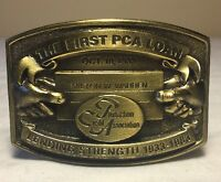 Vintage First PCA Loan Production Credit Association 1983 Belt Buckle USA