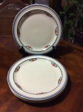 "Set of 4 Monterey by Tienshan Stoneware Dinner Plate 10"" White"