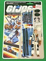 GI Joe ARAH 1988 Blizzard 100% COMPLETE WITH UNCUT FILE CARD BACKER vintage