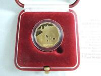 ISRAEL 1986 THE HOLY LAND SITES AKKO 1/4oz GOLD PROOF COIN 5 NIS +BOX & COA