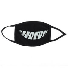 Cotton Teeth Luminous Anti-Dust Mouth face Mask Anime Halloween Gift Cosplay