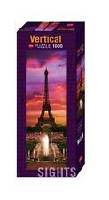 JIGSAW PUZZLE EIFFEL TOWER NIGHT IN PARIS HY29551 - Heye- Vertical , 1000 Piece