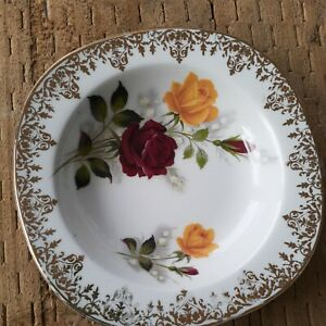 ALFRED MEAKIN ENGLAND GLOW WHITE FLORAL BUTTER/JAM OR PIN DISH