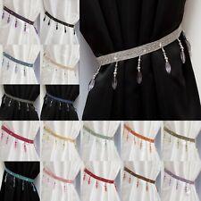 Curtain Tie Backs Crystal Beaded -Matching Swags Available- Tiebacks & Holdbacks