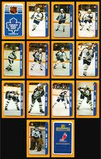 Renaissance 1982-83 Toronto Maple Leafs Salming 2 Team Sets 14 Souhaits Card
