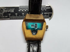 RARE TENOR DORLY 21 JEWEL AUTOMATIC INCABLOC JUMP HOUR DATE WATCH RUNS AND STOPS