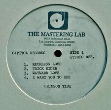 "CRIMSON TIDE - RECKLESS LOVE - CAPITOL LABEL - MASTERING LAB - 12"" ACETATE !!!"