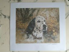 "Robert Abbett ""English Setter"" S/N 4/500 Litho 15"" x 12"" Sportsman's Edge 1980"