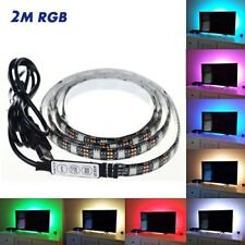 Striscia Led Posteriore USB 2M per TV HDTV PC Monitor Kit 200cm 5V USB RGB LED