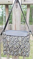 Stubbs and Wootton Black & Brown Design Purse Handbag w/ Leather Trim