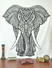 Walking Elephant Home Decor Vintage Wall Hanging Tapestry  Mandala Cotton Fabric