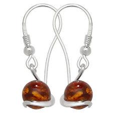 Unbranded Sterling Silver Amber Fine Earrings