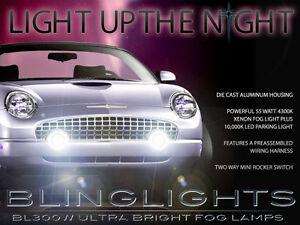 Xenon Halogen Fog Lamps Driving Lights Kit for 2002-2005 Ford Thunderbird
