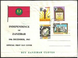 ZANZIBAR, 1963 INDEPENDENCE, ILLUSTRATED FIRST DAY COVER.