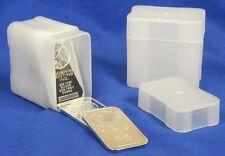 3 CoinSafe 1 oz Silver Bar Storage Tubes - Ingot Bullion Archival Holders Tube