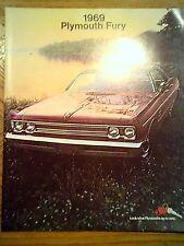 1969  Plymouth  Fury  Original  Sales  Catalog