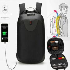 School Backpack Anti Theft Travel Rucksack Shoulder Laptop Bag USB Charging Port