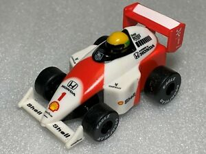 1989 McLaren MP4/5 Honda #1 Ayrton Senna Formula 1 Pull Back Race Car F1 Loose