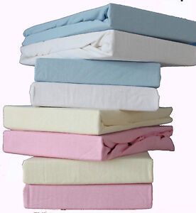 Pack of 2, Baby  Moses Basket Soft Jersey Fitted Sheet 100% Cotton, 9 colours.