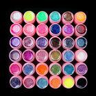 Hot New 36 Pcs Solid Glitter Mix Color Gel Acrylic Set UV Builder Nail Art Decor
