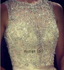 White&Ivory Lace Jackets Shawl Bolero Crystal Wedding Jacket Bridal Wrap Custom