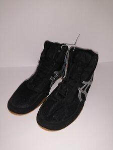 NEW! Asics Men's Matflex 5 Lace Up Wrestling Shoes Black/White #J504N