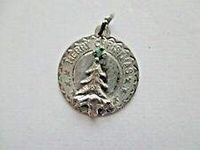 Merry Christmas on disk vintage sterling Christmas tree with
