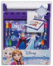 Disney Frozen Ana and Elsa Jumbo Roll & Go Kids Rolling Art Desk Girls Gift Set
