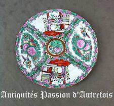 B2018174 - Assiette de 26 cm en porcelaine à décor asiatique - Très bon état