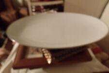 VINTAGE PLATTER 5932 NORITAKE ''COLONY'' CHINA  WHITE/SILVER TRIM