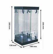 """MB Acrylic Display Case LED Light Box for 7"""" 18cm Bandai STAR WARS Action Figure"""