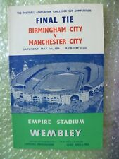 1956 FA Cup FINAL Official Programme BIRMINGHAM CITY v MANCHESTER CITY,5 May-ORG