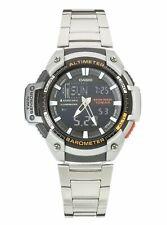 Casio Men's Stainless Steel Bracelet Twin Sensor Sport Watch - Silver