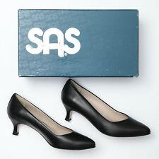SAS Moxie Black Leather Heels - Womens 8.5 W