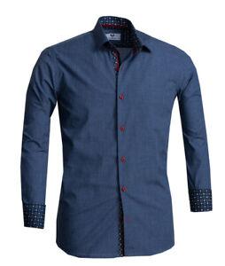 Celino Men's Slim Fit Designer Dress Shirt for Formal or Casual Made in Europe