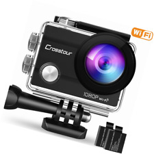 Crosstour Action Camera Underwater Cam WiFi 1080P Full Hd 12Mp Waterproof 30m 2""