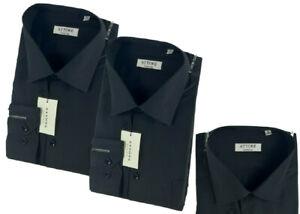 Camicia Colore Nero Classica Uomo Attore Manica Lunga Collo Classico art 328