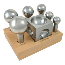 Dapping Set - 6 Extra Large Punches and Block - SFC Tools - 25-623