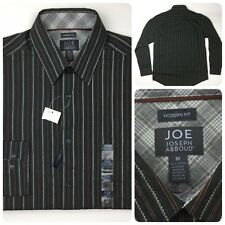 NEW JOE By Joseph Abboud Men's Olive Striped Long Sleeve Shirt Medium M NWT