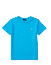 Polo RALPH LAUREN Maglietta T-Shirt Cotone Manica Corta Bambino Ragazzo AZZURRA